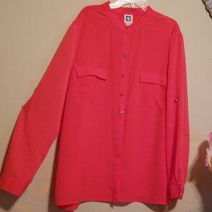 Anne klein blouse pink
